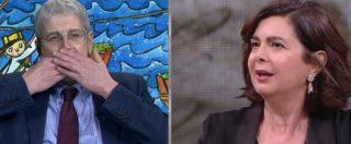 """La7, Boldrini vs Giordano: """"Io non voglio parlare con chi scrive bufale da anni"""". """"Se do fastidio vado via"""""""