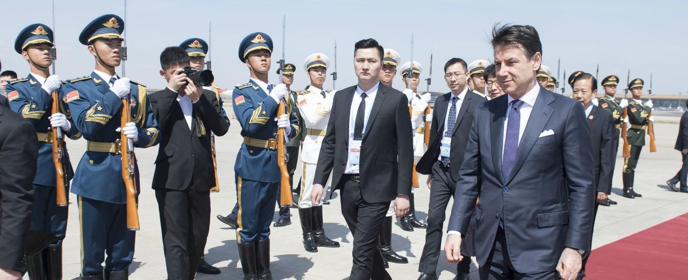"""Cina, Conte al forum sulla nuova Via della Seta: """"No a iniziative predatorie nel 5G. Cina apra al Made in Italy"""""""