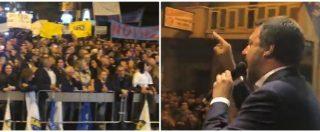 """Sicilia, Salvini contestato a Mazara del Vallo: """"Vergogna, razzista"""". Lui perde la pazienza: """"Voi 'vergogna', cretini"""""""