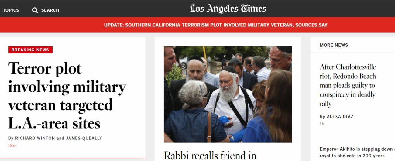 """Usa, media: """"Sventato attacco terroristico da ex veterano convertito all'Islam"""""""