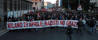 """Milano, antifascisti in corteo contro presidio per Ramelli: """"Partiti che legittimano estrema destra sono il pericolo più grave"""""""