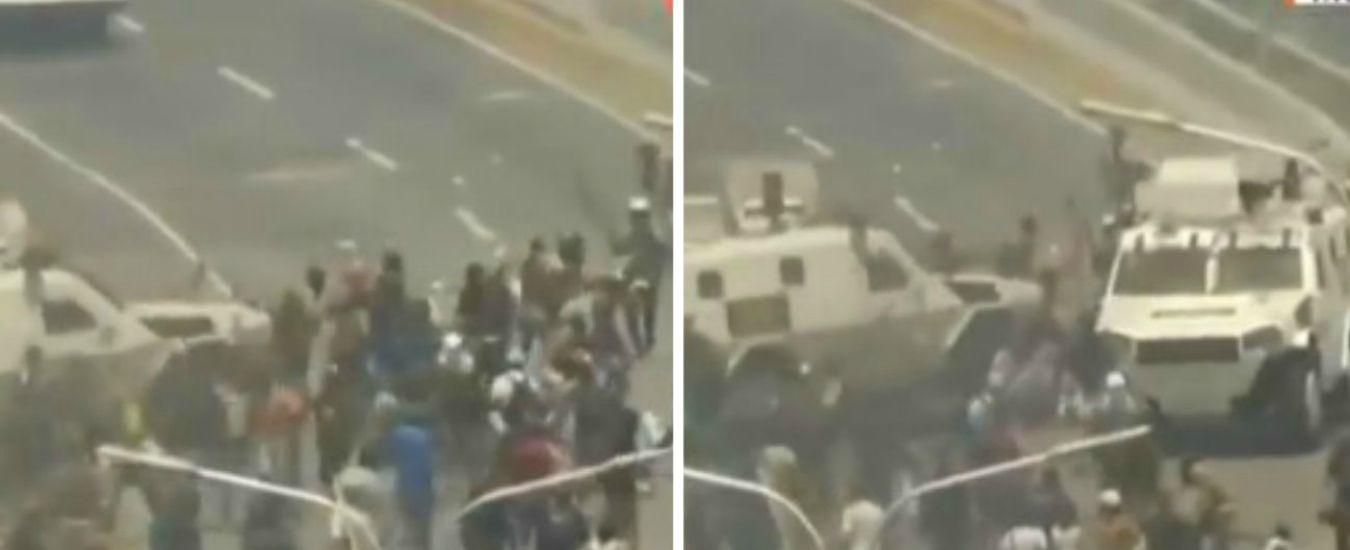 "Venezuela, blindati di Maduro contro i manifestanti pro-Guaidò. Presidente assemblea nazionale: ""Fine usurpazione"""