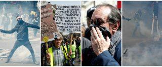 """Primo Maggio, black bloc e gilet gialli a Parigi: scontri con la polizia. Il sindacato annulla discorso: """"Repressione inaudita"""""""