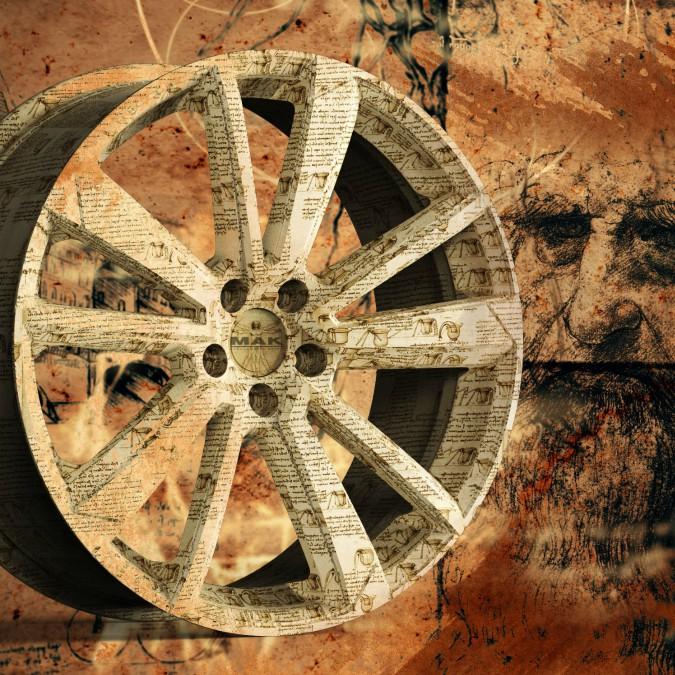 Mak, una ruota speciale per celebrare Leonardo da Vinci
