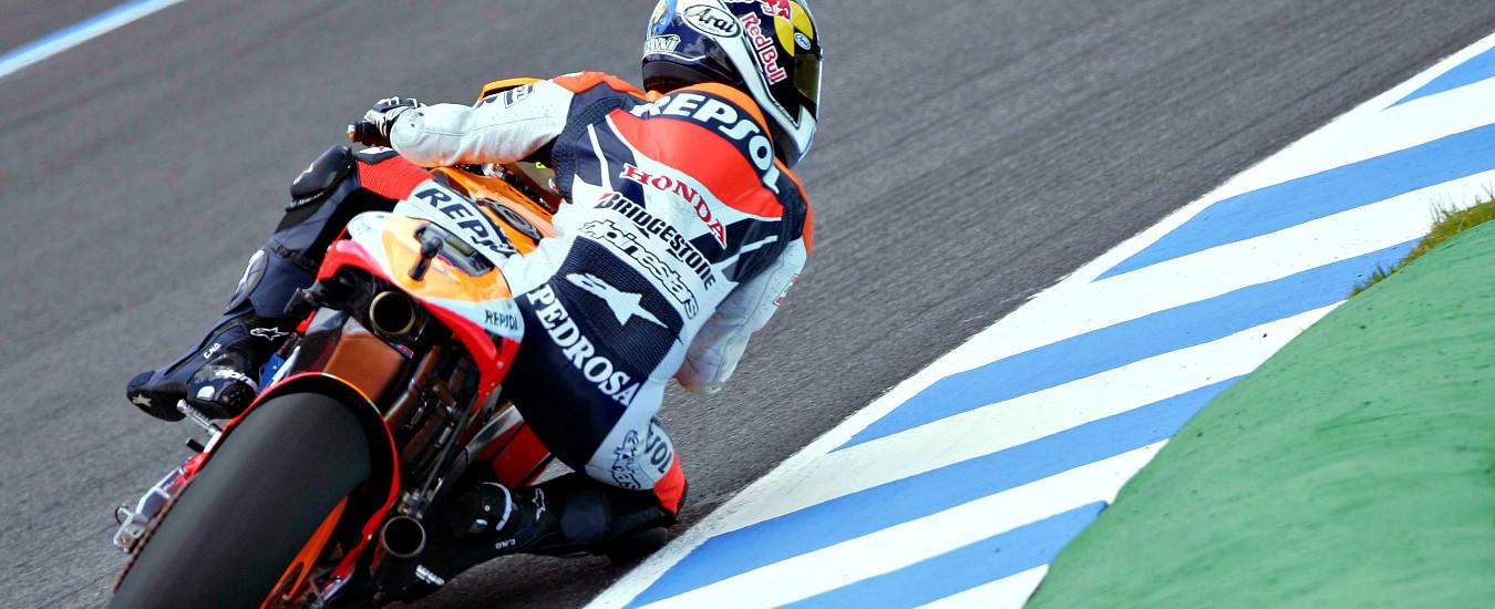 """MotoGp Jerez, curva intitolata a Pedrosa. Dovizioso: """"Per me è strano"""". Rossi: """"Non mi piacerebbe"""". Marquez: """"A me sì"""""""