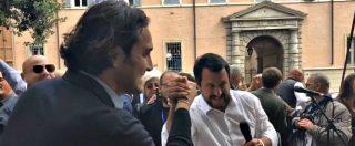 Europee, l'ex campione del mondo Luca Toni sul palco con Salvini al comizio di Modena