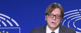 """Elezioni europee, Verhofstadt annuncia lo scioglimento dell'Alde: """"Nascerà un nuovo gruppo pro-Ue con Macron"""""""