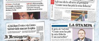 La guerra di carta di Salvini al premier: la finta crisi nei retroscena sui giornaloni