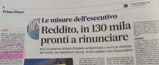 """Reddito, Serracchiani: """"Secondo i dati Caf 130mila rinunceranno"""". Ma quei dati esistono solo in un titolo del Messaggero"""