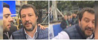"""Salvini si aspetta il selfie, ma il giovane dem lo sorprende: """"Ministro, dove sono finiti i 49 milioni?"""". E lui reagisce così"""