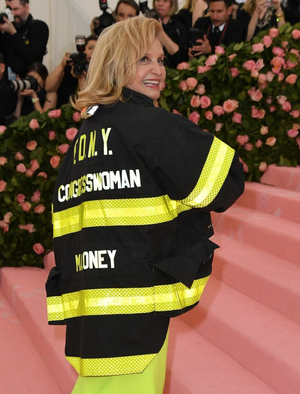 US representative congresswoman Carolyn B. Maloney arrives for the 2019 Met Gala