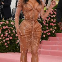 Kim Kardashian arrives for the 2019 Met Gala
