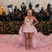 US rapper Nicki Minaj arrives for the 2019 Met Gala