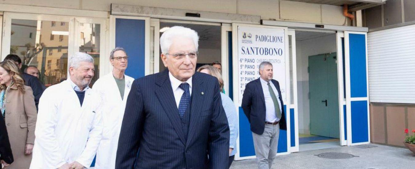"""Napoli, i medici: """"Noemi stabile ma persistono condizioni di criticità"""". Visita privata di Mattarella in ospedale"""