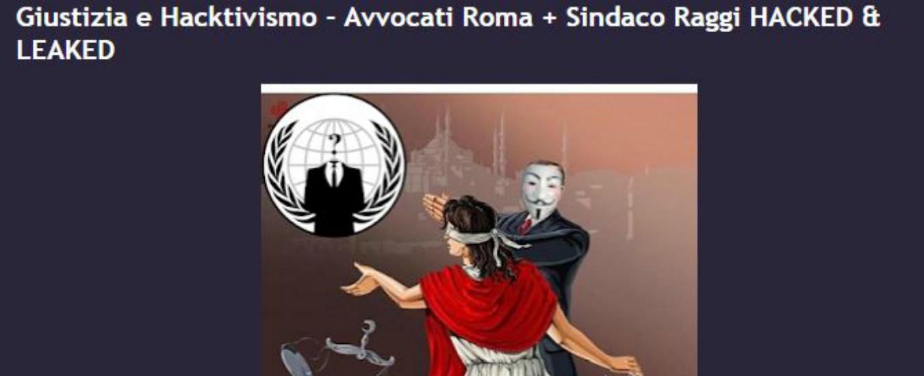 Anonymous Italia, attacco hacker agli account mail di 30mila avvocati tra cui quello della sindaca Virginia Raggi