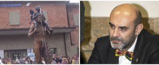 """Vergato, Pillon contro la statua di Ontani: """"Un satanasso da ricoprire con una colata di cemento"""". Ma è un fauno"""