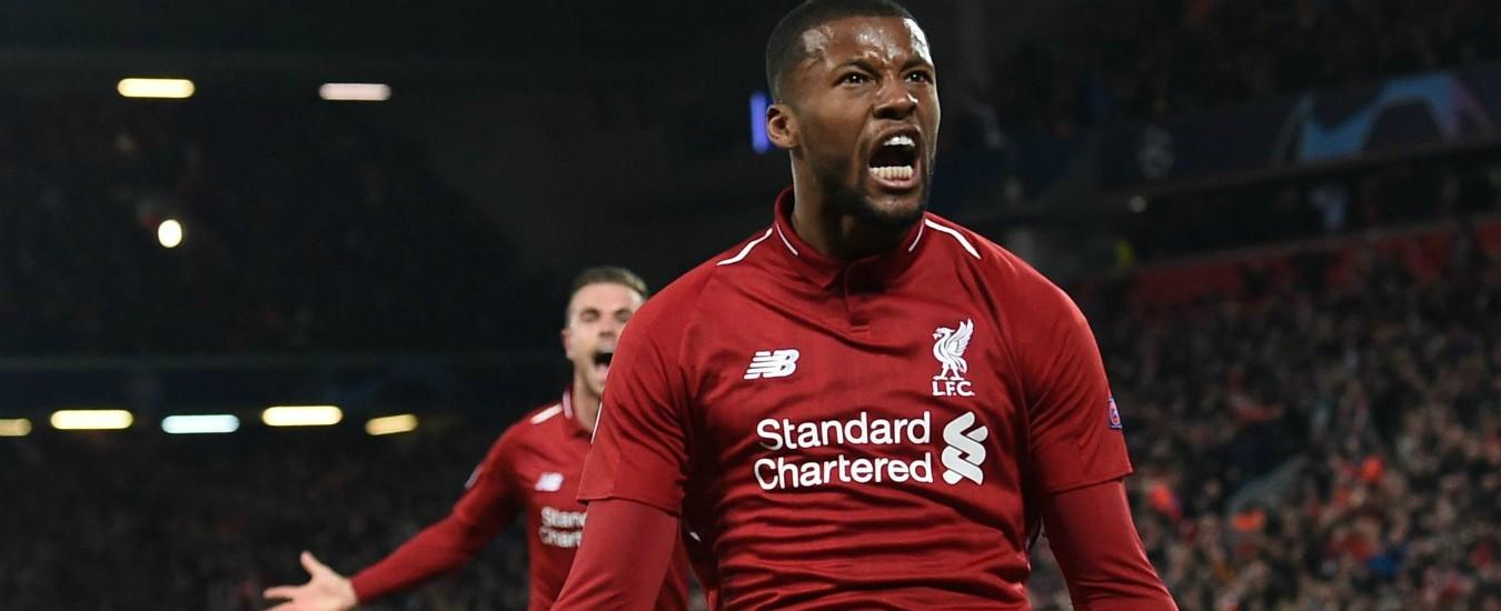 Champions League, Liverpool-Barcellona 4-0. I Reds di Jurgen Klopp in finale per la seconda volta consecutiva