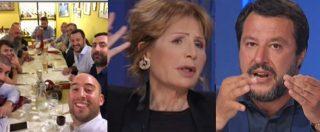"""Salvini vs Gruber: """"Fascismo? In Italia non c'è, io combatto gli spacciatori"""". """"Lei ha un nemico diverso al giorno"""""""