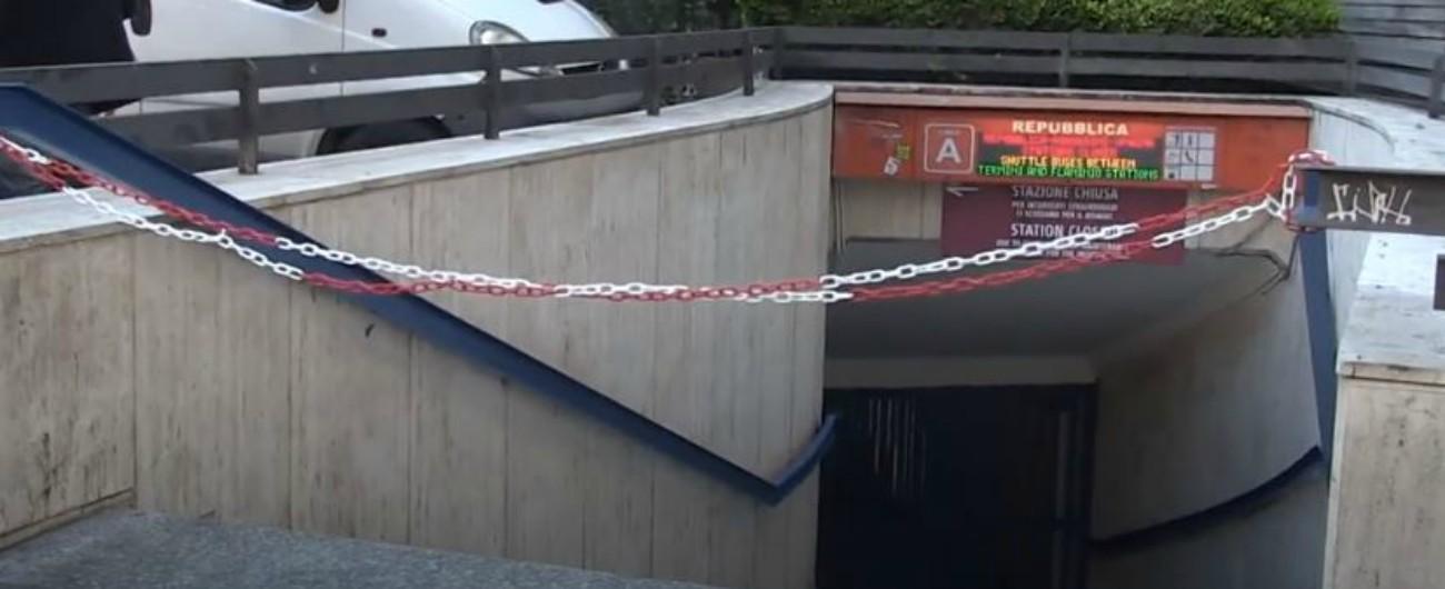 """Metro Roma, la fermata Repubblica non riapre: altri 2 mesi di lavori. Rabbia della Raggi: """"Manutenzione fatta male"""""""