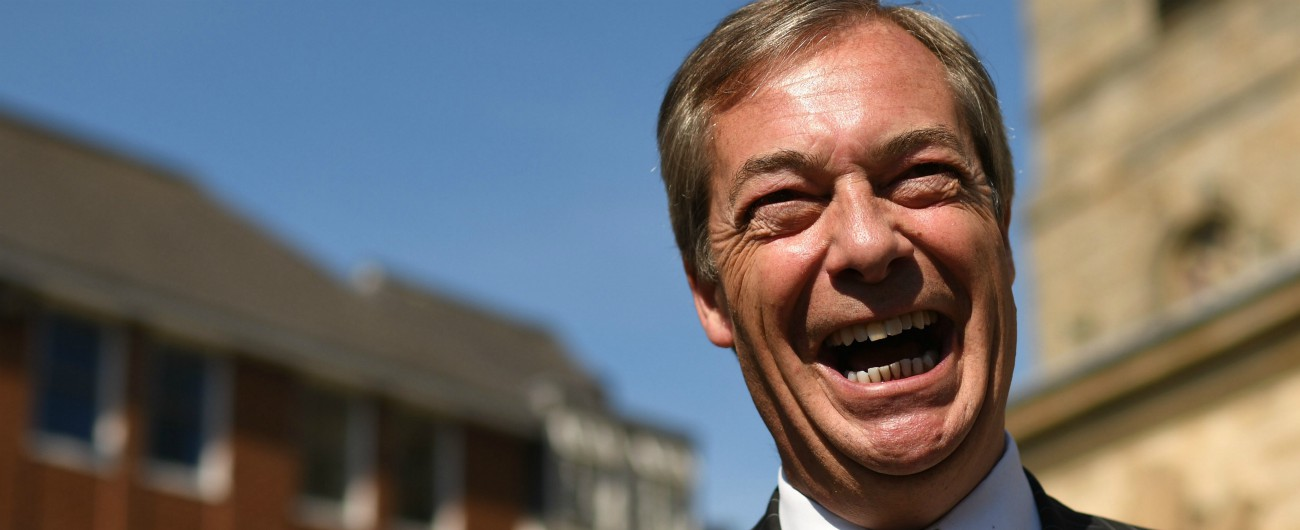 Europee, sondaggi Gran Bretagna: sfonda il Brexit Party di Farage al 34%. Più di Labour e Tory messi insieme