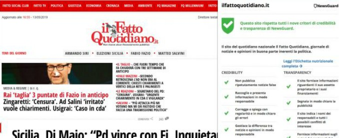 NewsGuard, arriva in Italia l'estensione che valuta l'affidabilità delle testate: ilFattoQuotidiano.it promosso a pieni voti