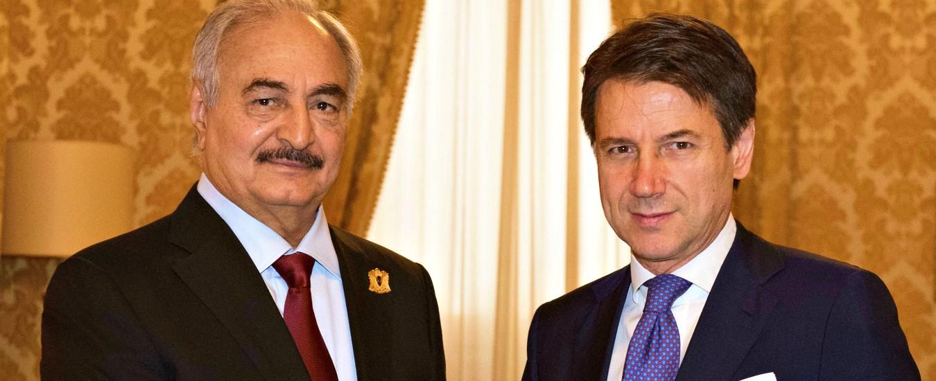 Libia, incontro a Palazzo Chigi tra il premier Conte e il generale libico Haftar