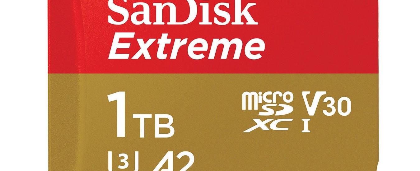 La nuova microSD Sandisk da 1 TB fa gola a fotografi e giocatori, ma costa una fortuna