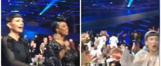 """Eurovision, Mahmood canta sul palco e nel dietro le quinte gli altri cantanti si scatenano sul ritornello: """"Soldi, soldi"""""""