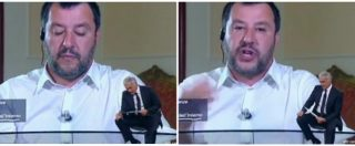 """Salvini: """"Porti chiusi"""", ma Giletti lo smentisce in diretta con la notizia dello sbarco della Sea Watch. E lui attacca i pm"""