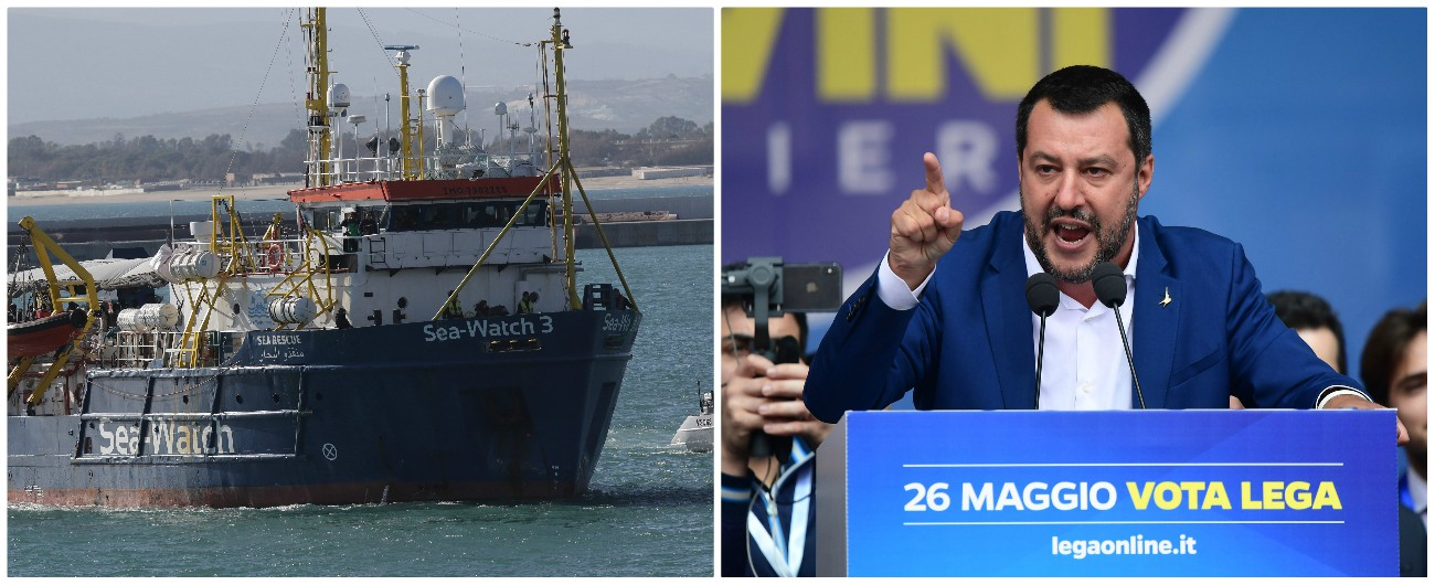"""Sea Watch, Salvini firma divieto d'ingresso in Italia, l'ong: """"Crimine contro umanità"""". Sbarco autorizzato solo per 10"""