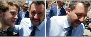 """Lecce, Salvini """"vittima"""" del finto selfie. Il giovane: """"Non siamo più terroni di m***, eh?"""". E il ministro reagisce così"""