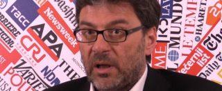 """Governo, Giorgetti: """"Non accuso Conte ma così non si può andare avanti. Ritrovare spirito di squadra"""""""