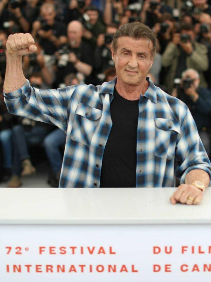 """Cannes, Sylvester Stallone in cattedra: """"Rocky un film ottimista, Rambo era per quelli che tornavano dal Vietnam"""""""