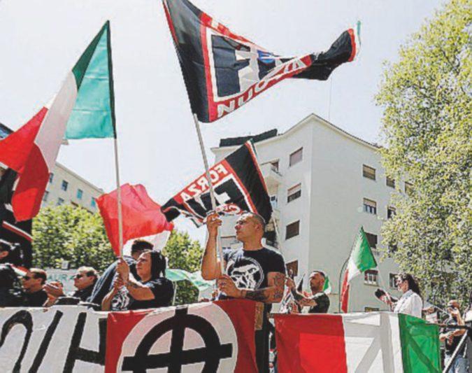 """Forza Nuova,  provocazione al """"muro rosso"""": oggi la marcia sul quartiere San Lorenzo"""