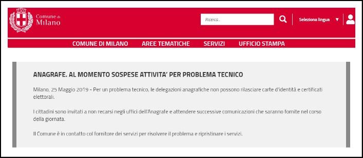 Elezioni Europee, Anagrafe di Milano: in tilt il servizio di rinnovo delle tessere elettorali. Ora è stato ripristinato
