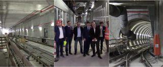 Milano, cantiere metropolitana M4 apre ai cittadini. Le immagini dall'open day della linea blu a Linate