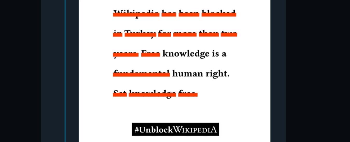Wikipedia porta la Turchia di fronte alla Corte europea dei diritti dell'uomo per rimuovere il bando al sito nel Paese