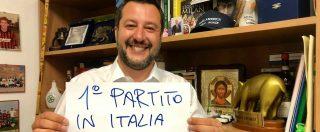 """Salvini, su Facebook la foto in cui canta vittoria: """"Primo partito in Italia"""". Ma sui social spuntano i meme satirici"""