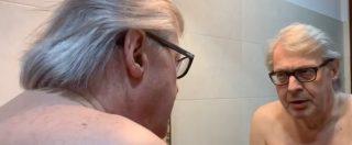 """Nudo davanti allo specchio, Vittorio Sgarbi viola il silenzio elettorale e rivela: """"Ecco chi andrò a votare"""""""