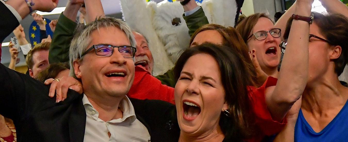Europee, in Germania i Verdi sfondano rubando consensi a Merkel e Spd: a loro i voti dei giovani e contro l'attuale Ue
