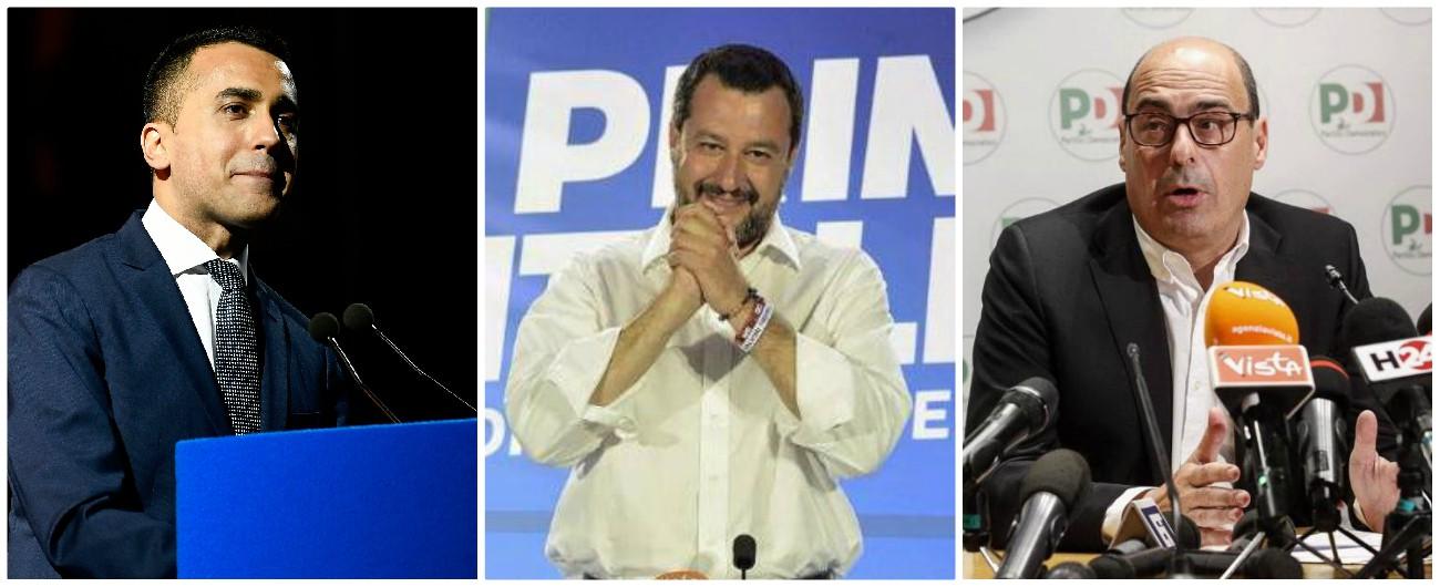 """Risultati Elezioni Europee 2019, l'inversione di peso nel governo: Lega sopra il 34%, M5s sotto il 20%. Pd al 24%: sorpasso. Salvini: """"Non chiedo poltrone. Sarà periodo economico complicato"""""""