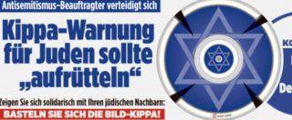 """Germania, Bild regala kippah azzurra. Il portavoce del governo: """"Lo Stato ha dovere di garantire libertà di religione"""""""