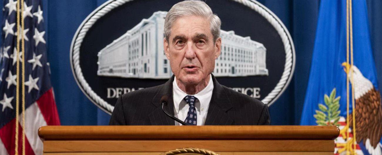 """Russiagate, Mueller: """"Se fossimo stati convinti che il presidente non avesse commesso reati lo avremmo detto"""""""