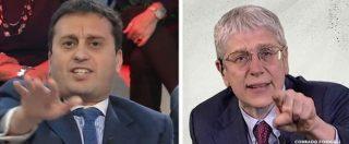 """Rixi, Parenzo vs Giordano: """"Racconta nella tua trasmissione la condanna invece di furti di immigrati"""". """"Ipocrita"""""""