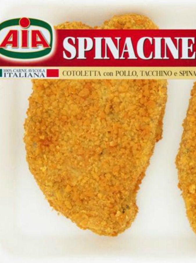 Aia ritira dal mercato spinacine e cotolette: potrebbero contenere plastica
