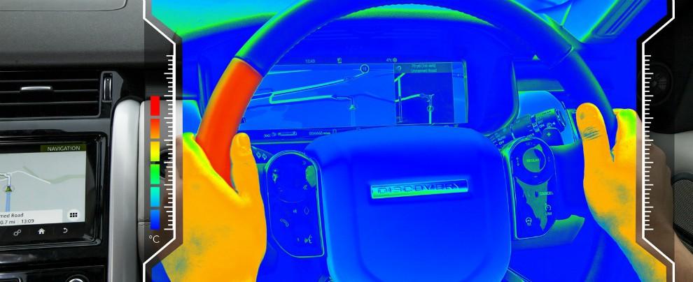 Jaguar Land Rover, il volante che si scalda e si raffredda contro la distrazione