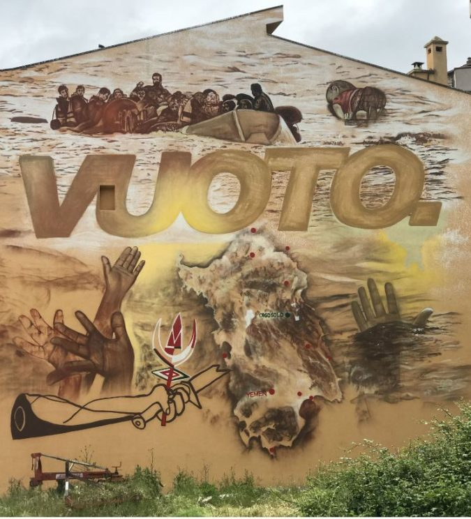 Rivolta di Pratobello, un murale di Manu Invisible celebra il 50esimo anniversario della protesta di Orgosolo