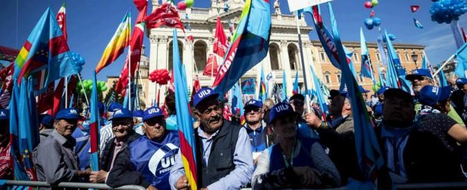 """Pensioni, manifestazione in piazza San Giovanni a Roma: """"Siamo centomila"""". Barbagallo: """"Governo è Robin Hood Ogm"""""""