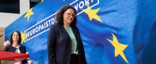 """Germania, Nahles lascia la guida dell'Spd dopo la débâcle alle elezioni europee: """"Non ho più il sostegno necessario"""""""