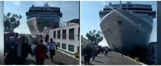 Venezia, nave da crociera si scontra contro battello: la fuga dei turisti e il momento dell'impatto. Le immagini